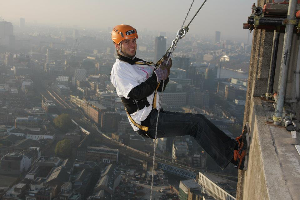 Tom Bourlet Abseiling