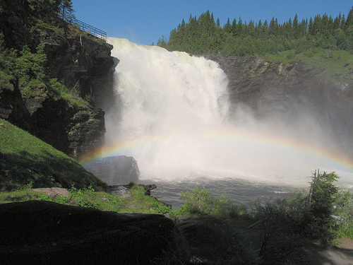 Tannforsen waterfall