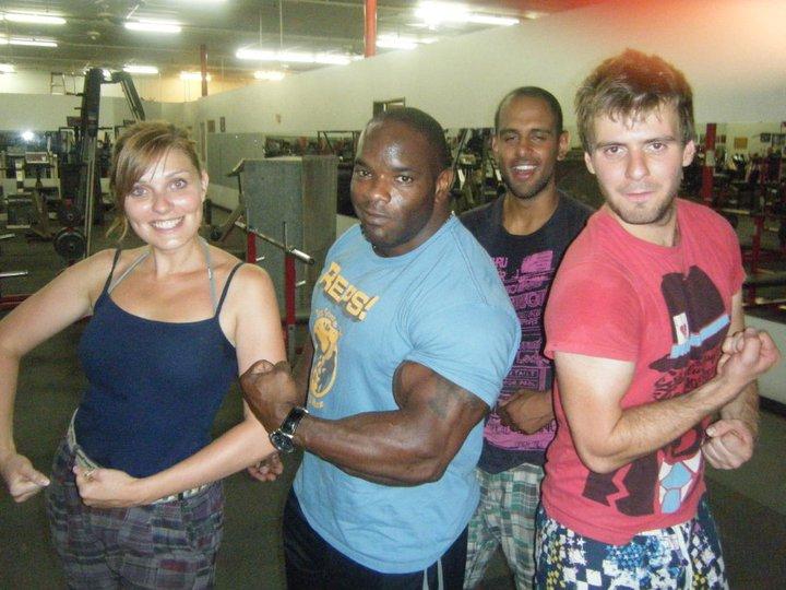 Johnny Jackson in Texas gym