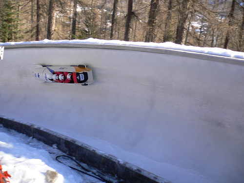 Bobsleigh in La Plagna