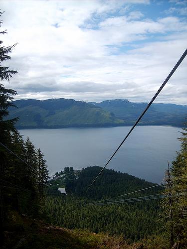 Alaska zip line