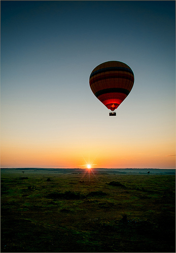 kenya hot air balloon