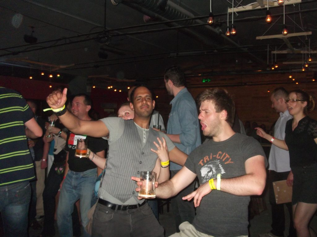 me and kunal dancing
