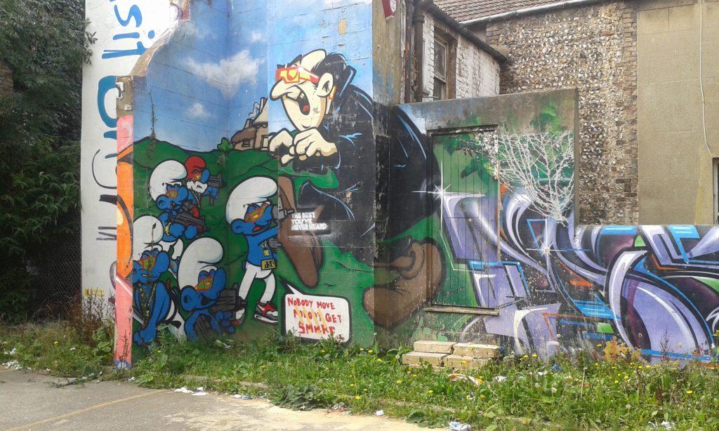 smurfs street art