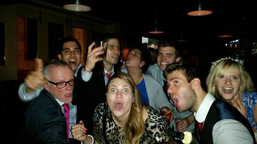 celebrating the wedding