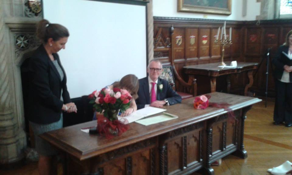parents signing