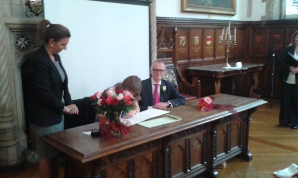 parents signing