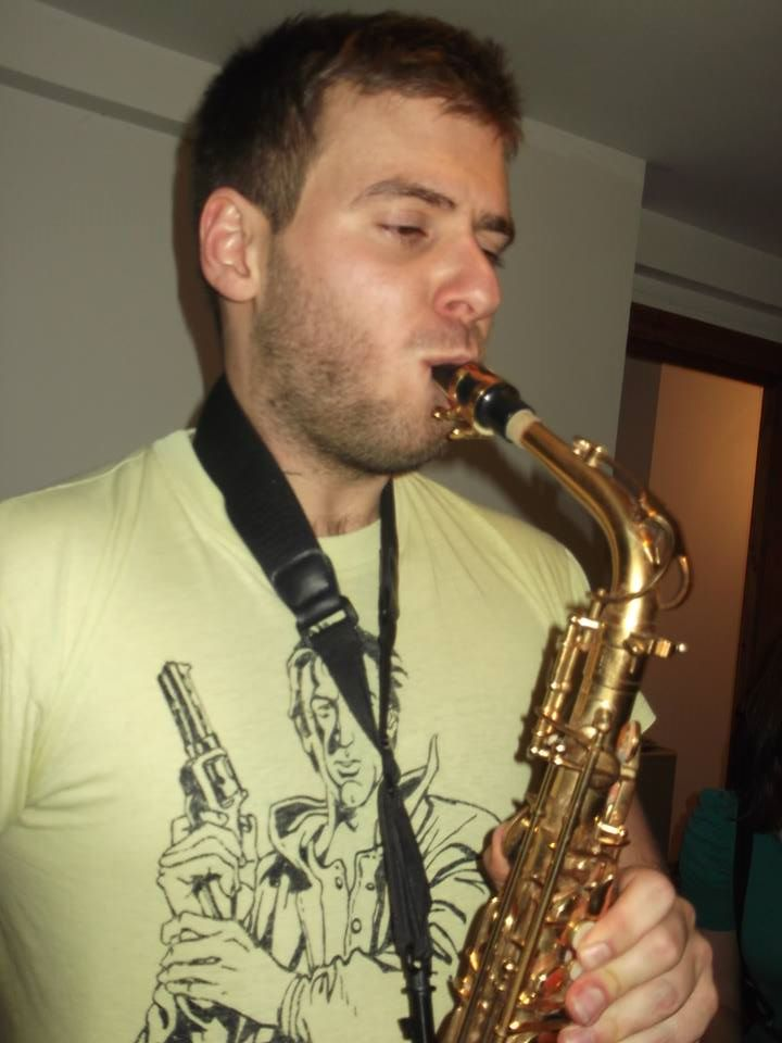 Tom Bourlet Playing The Saxophone