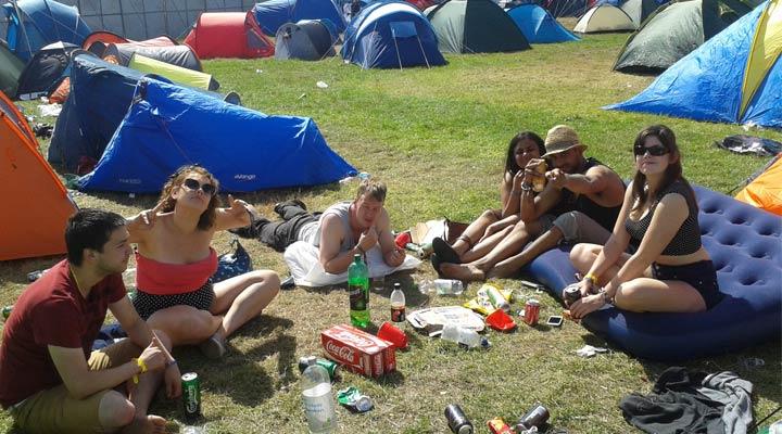 camping at reading festival