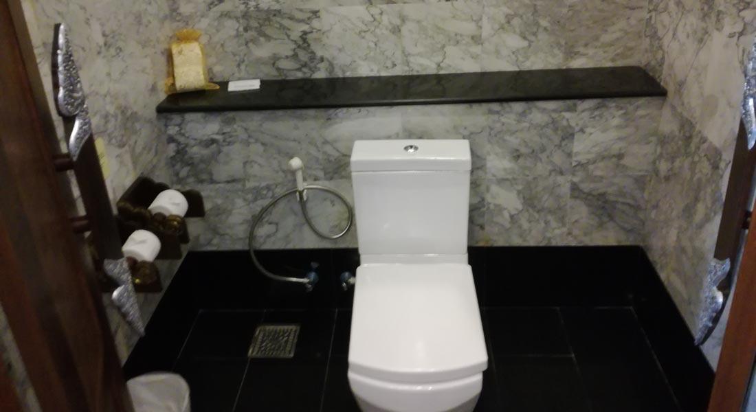 toilet in villa